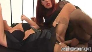 Big tits TGirl Zoe screwing